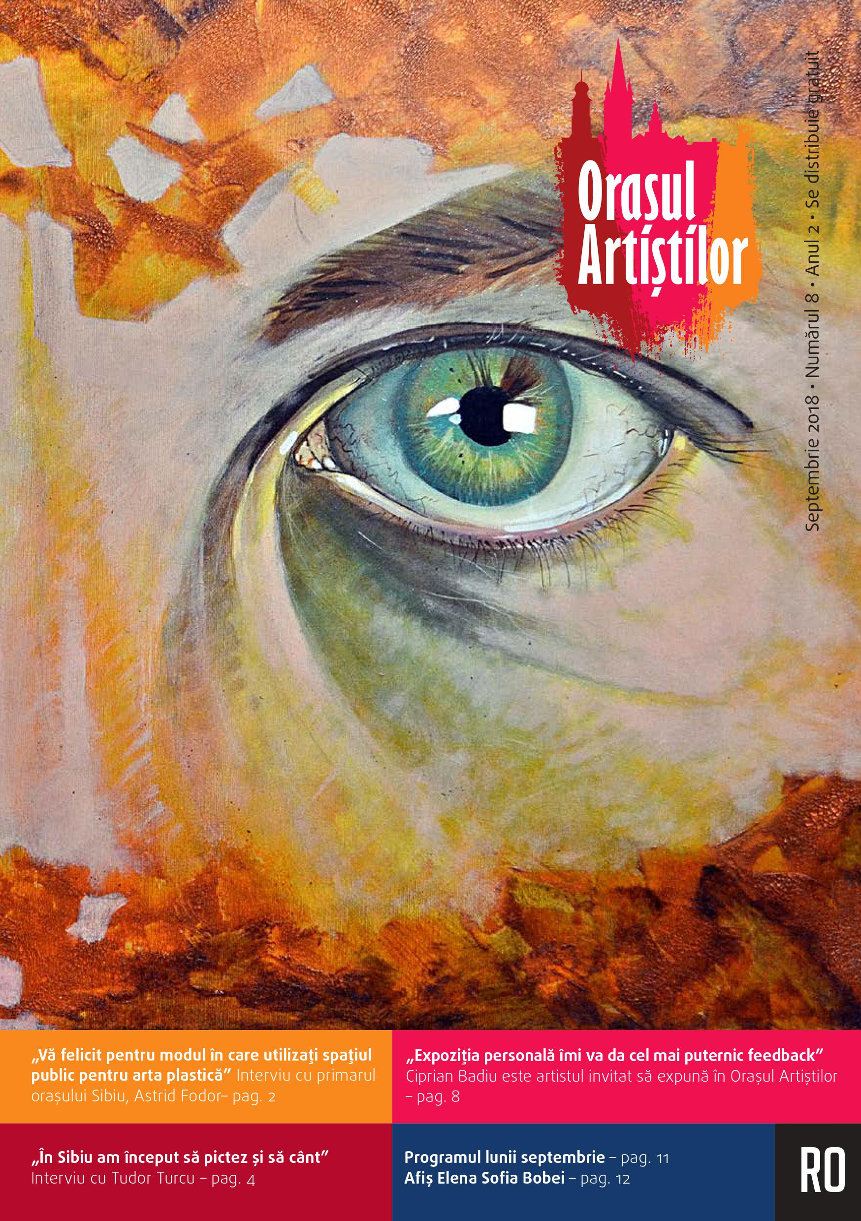 Revista Orașul Artiștilor nr. 8 (septembrie 2018)