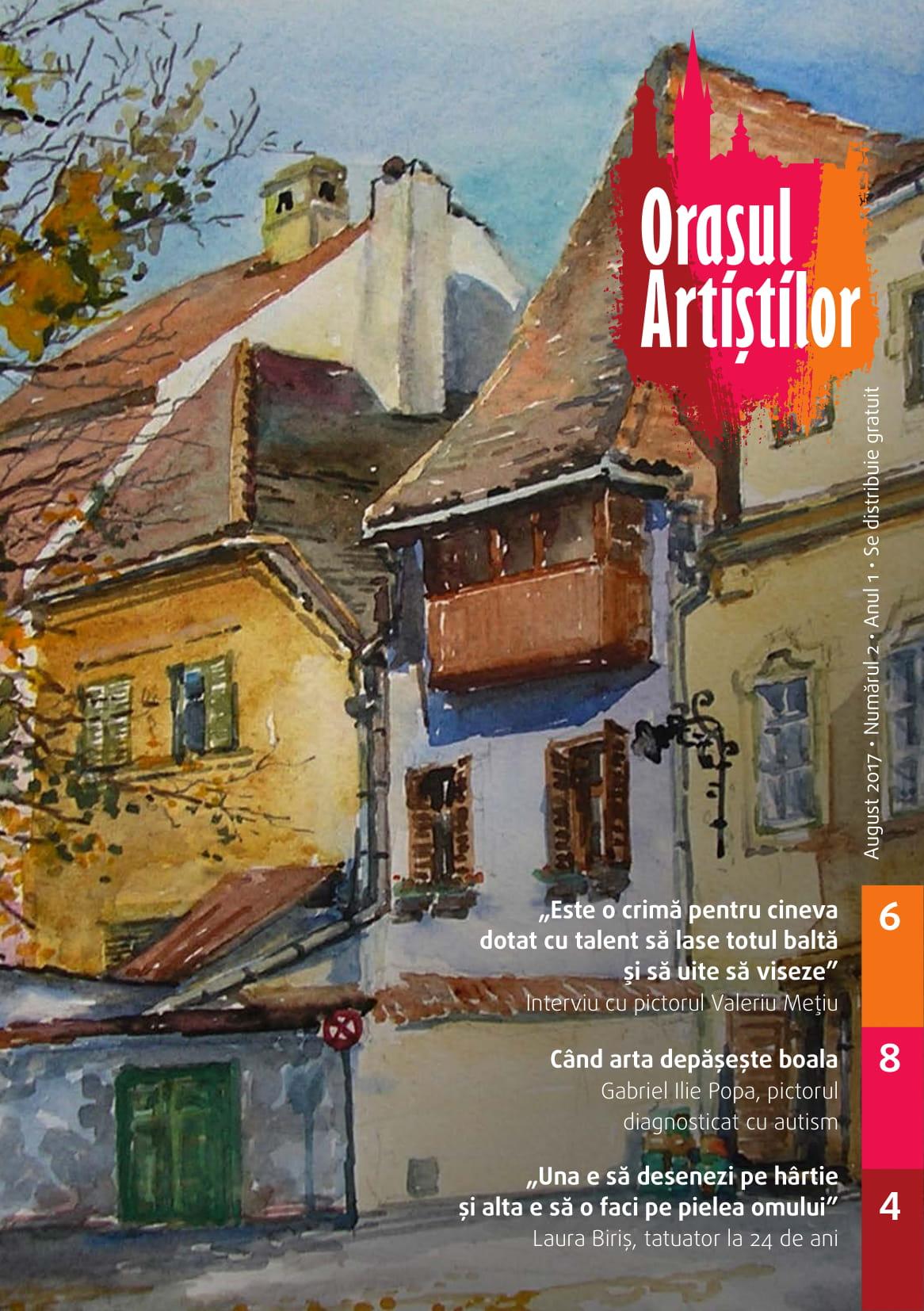 Revista Orașul Artiștilor nr. 2 (august 2017)